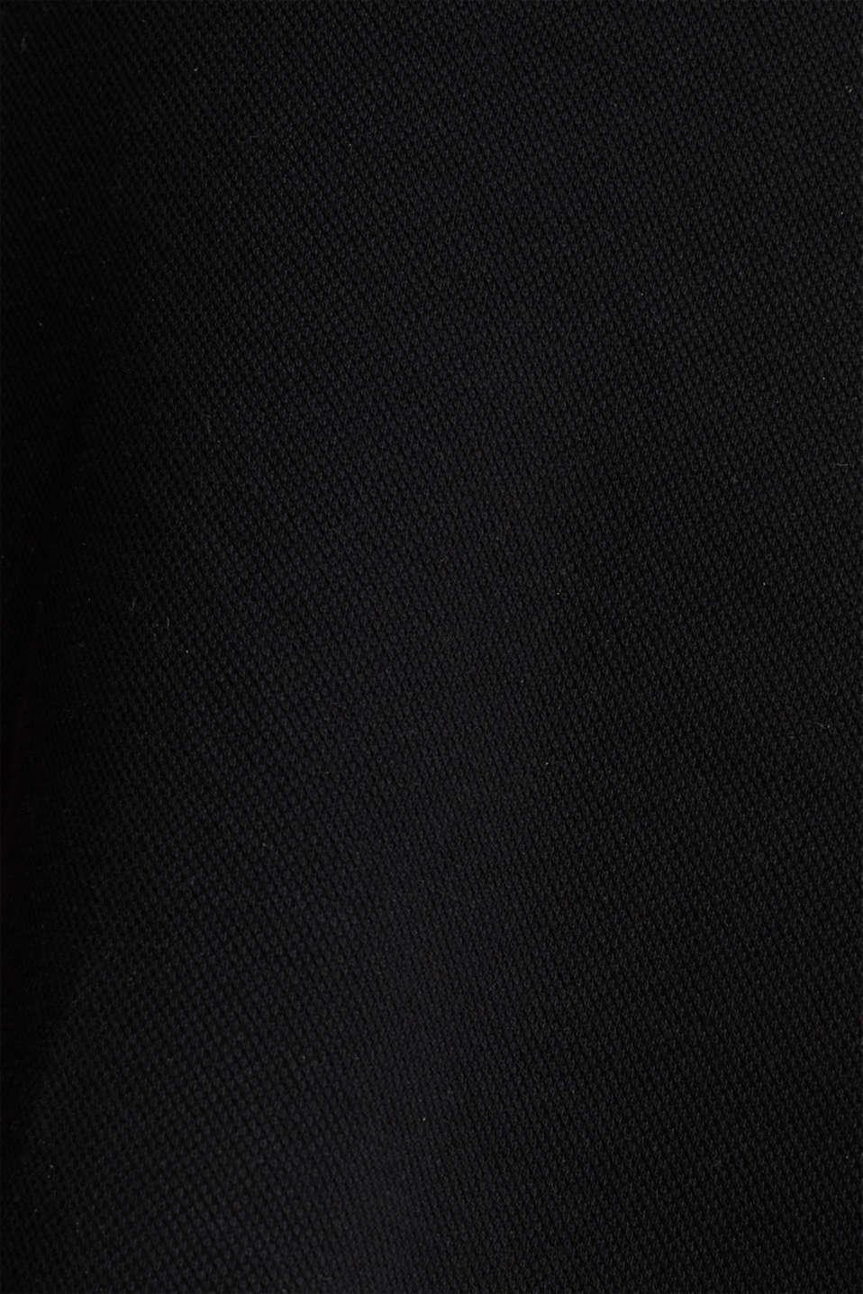 Flared stretch piqué skirt, BLACK, detail image number 3