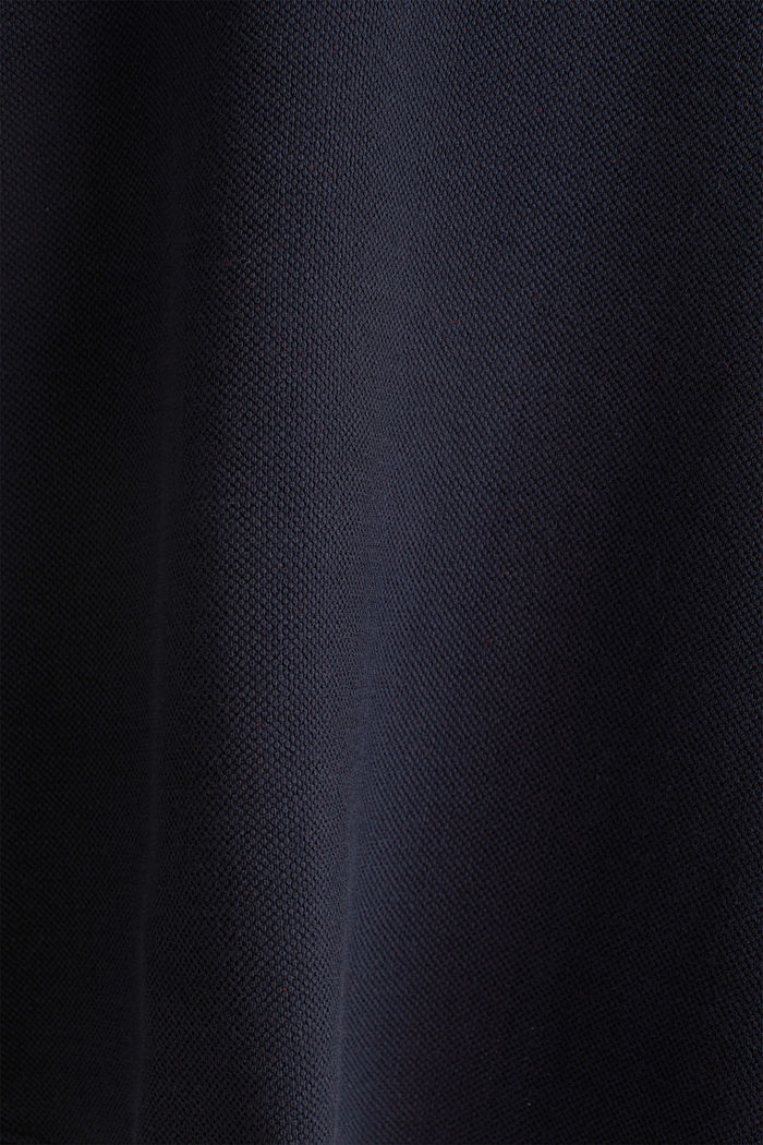 Flared stretch piqué skirt, NAVY, detail image number 4