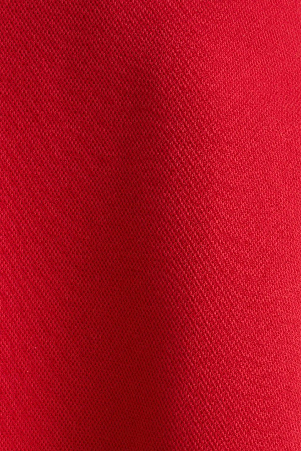 Flared stretch piqué skirt, DARK RED, detail image number 3