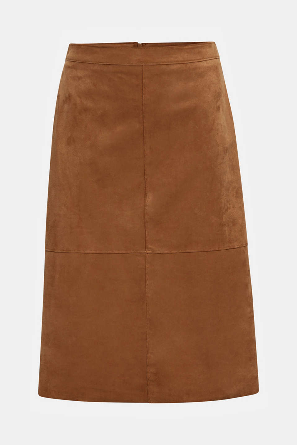 Flared faux leather skirt with stretch, TOFFEE, detail image number 8