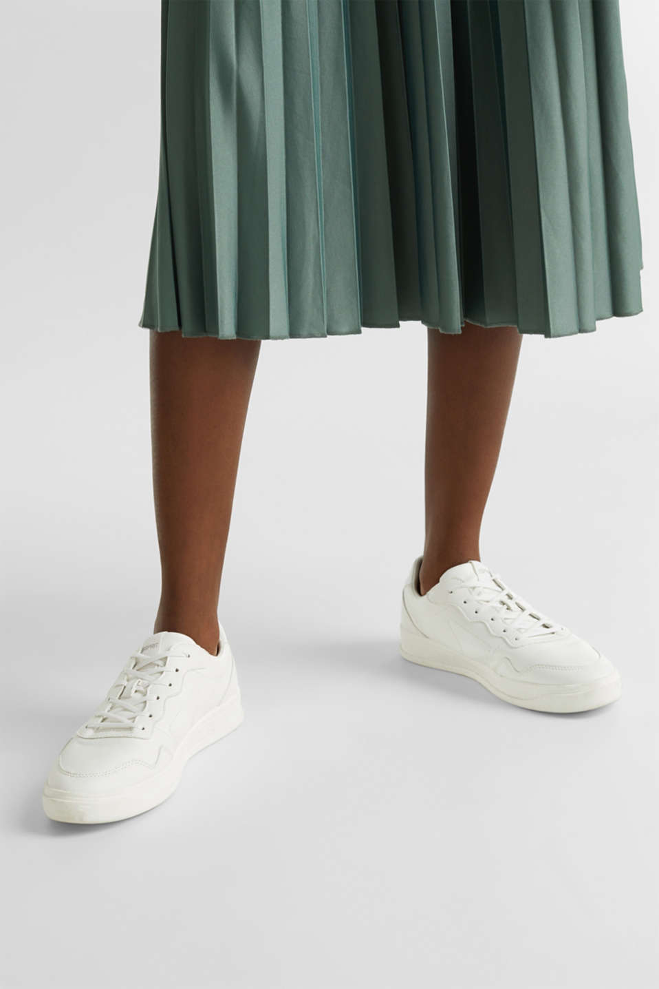 Stretch jersey skirt with accordion pleats, KHAKI GREEN, detail image number 5
