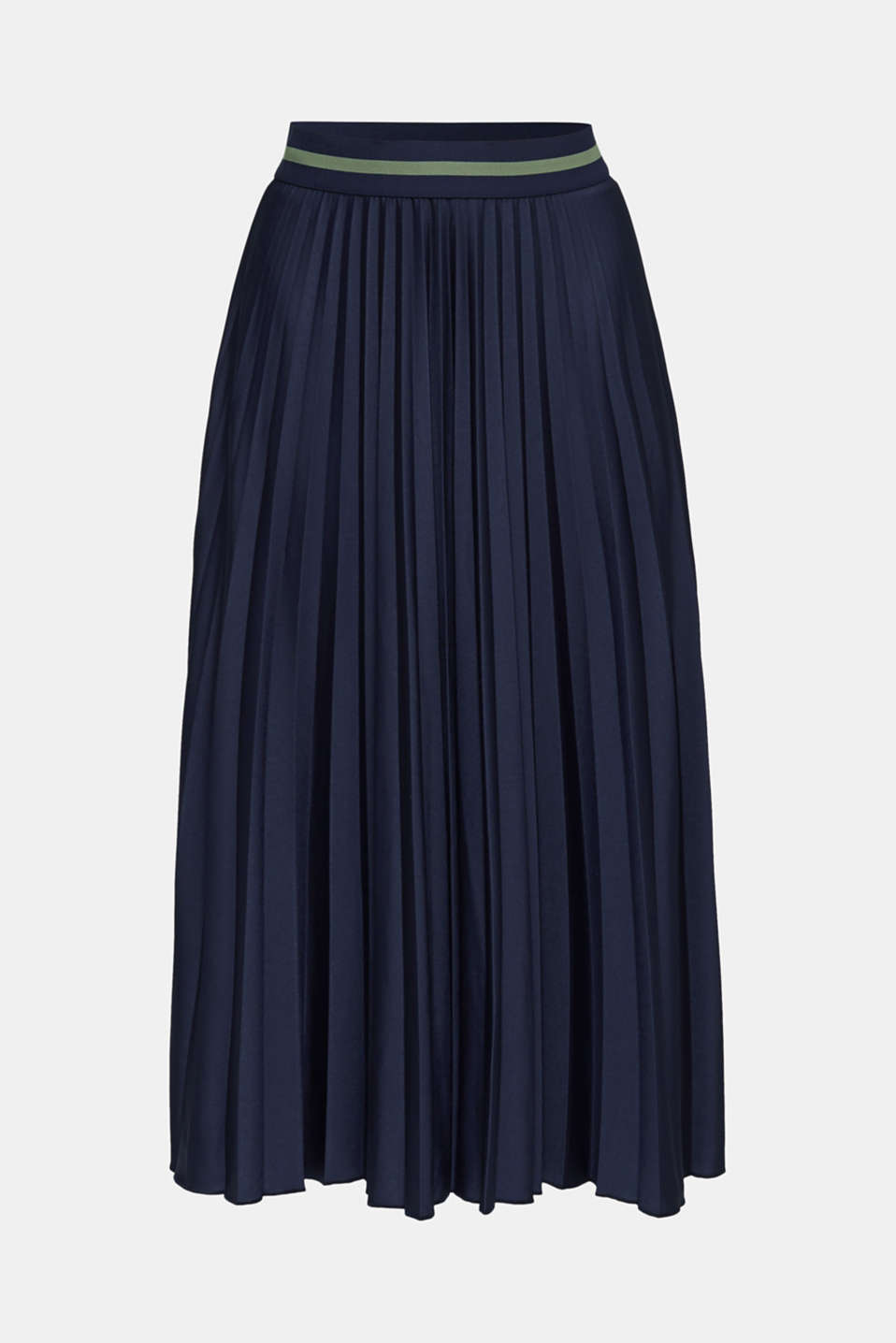 Stretch jersey skirt with accordion pleats, NAVY, detail image number 5