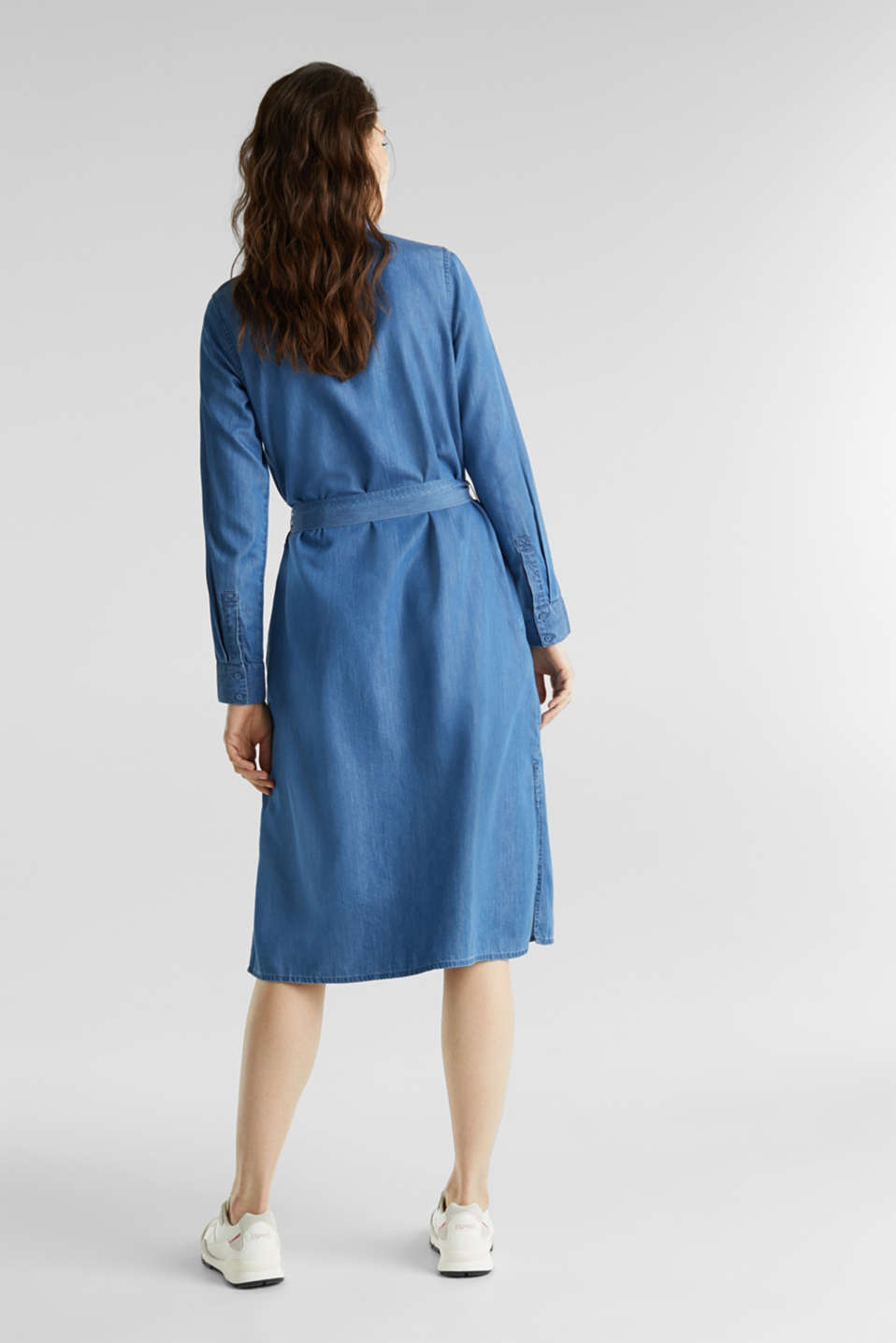 Shirt dress with lyocell, BLUE MEDIUM WASH, detail image number 2