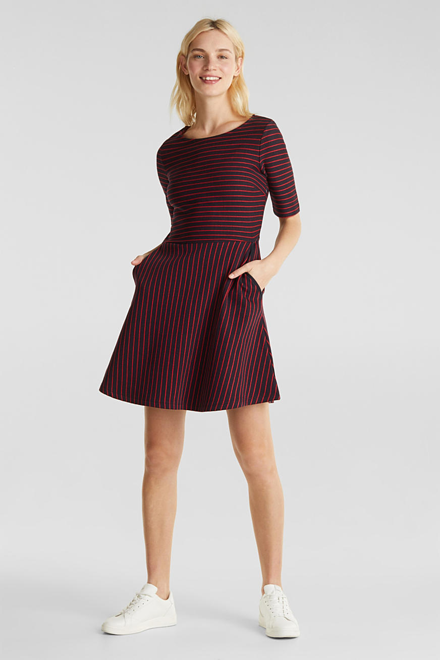 Dress in compact jersey
