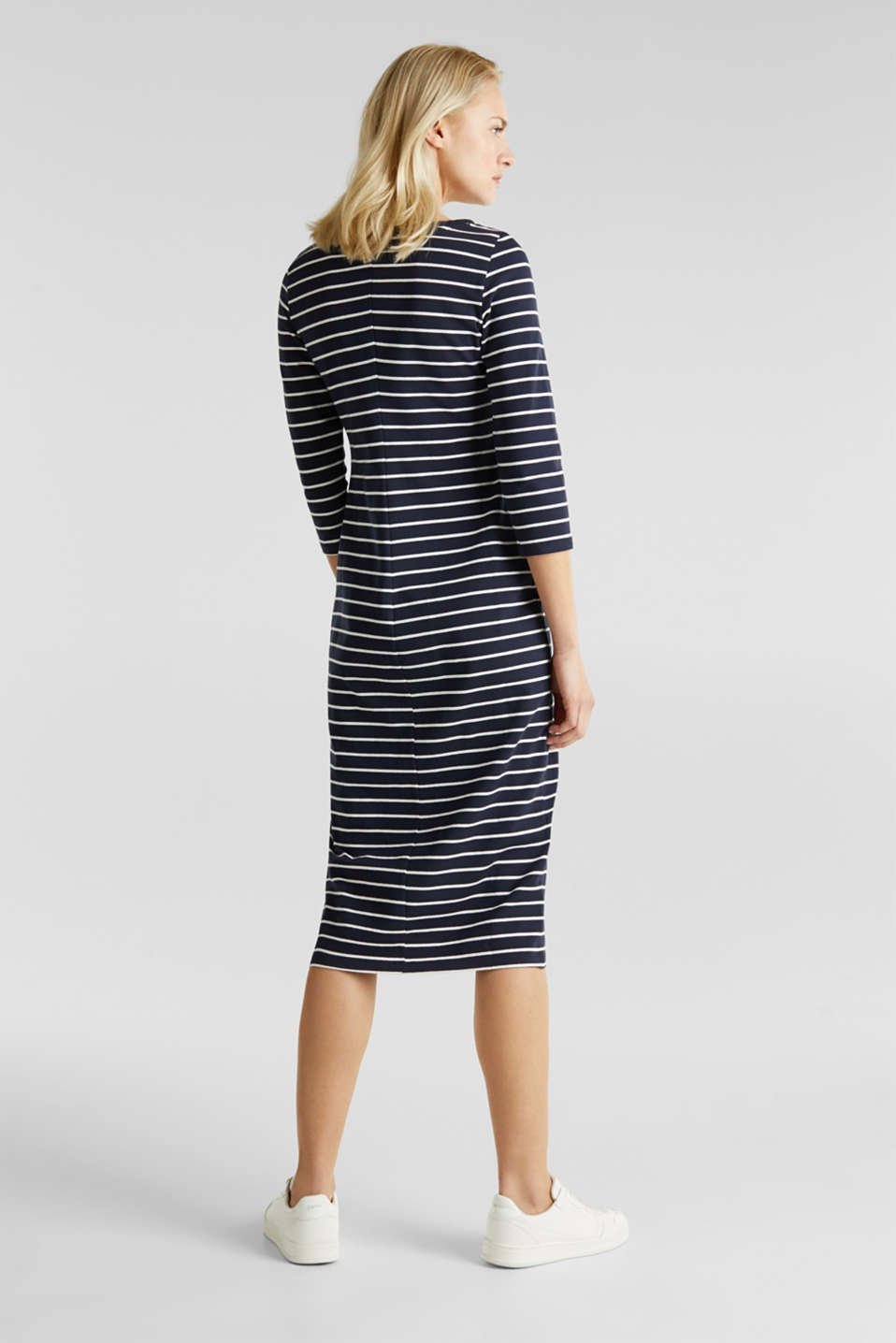 Midi dress in stretch jersey, NAVY, detail image number 2