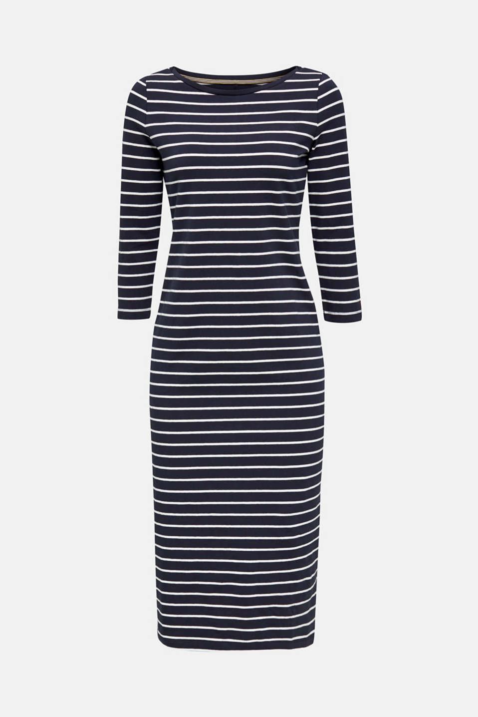 Midi dress in stretch jersey, NAVY, detail image number 5