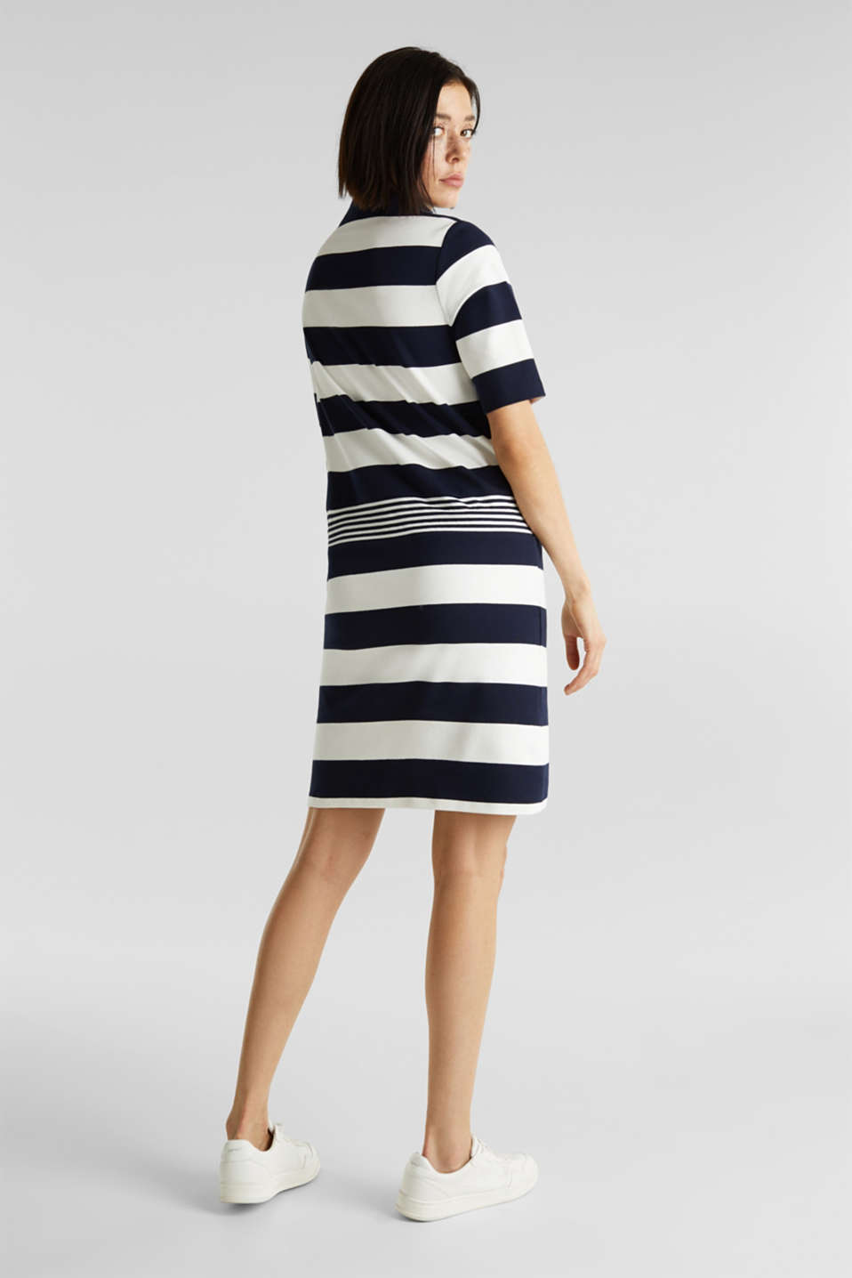 Jersey dress with stripes, 100% cotton, NAVY, detail image number 2