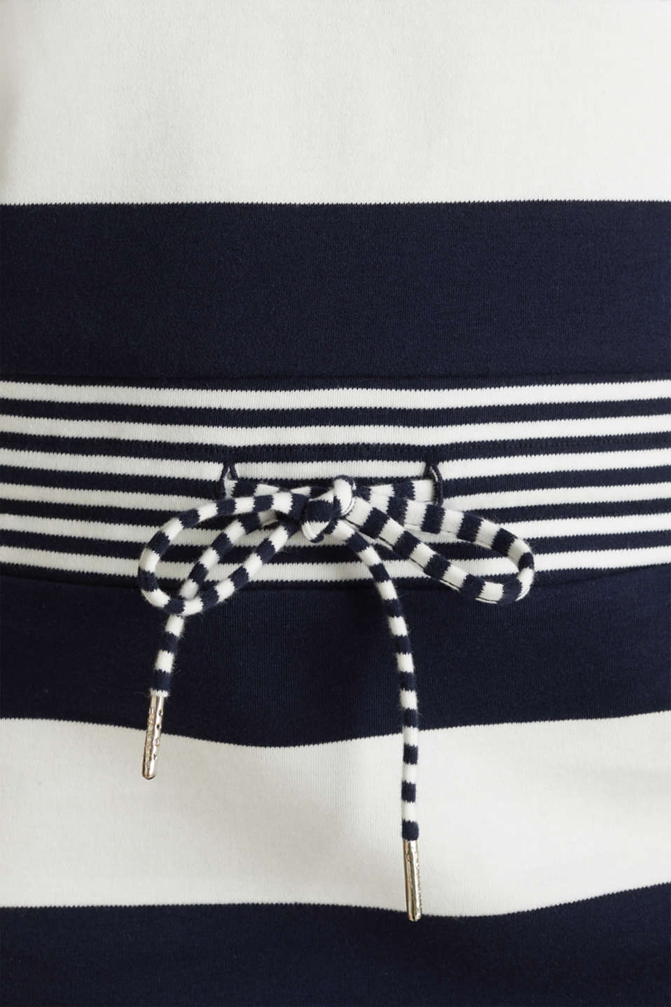 Jersey dress with stripes, 100% cotton, NAVY, detail image number 4