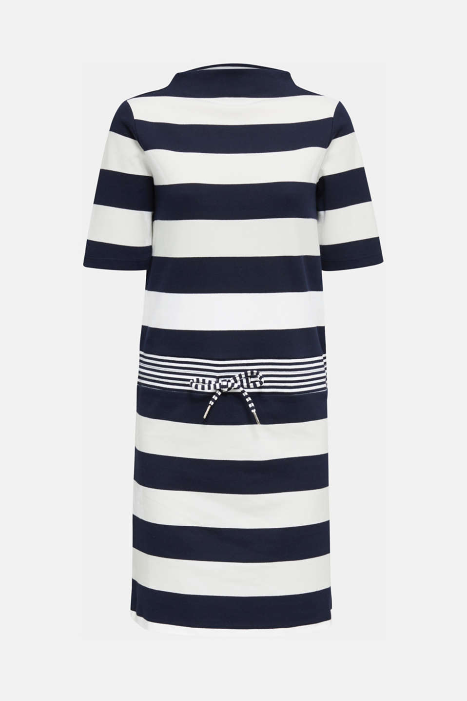 Jersey dress with stripes, 100% cotton, NAVY, detail image number 6