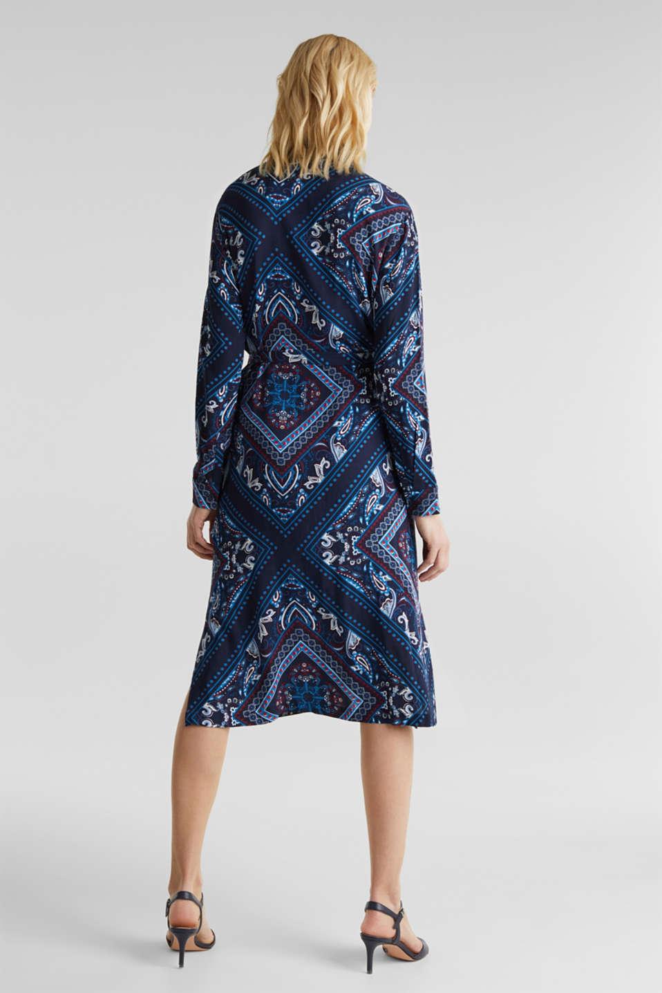 Shirt dress with bandana print, NAVY 4, detail image number 2