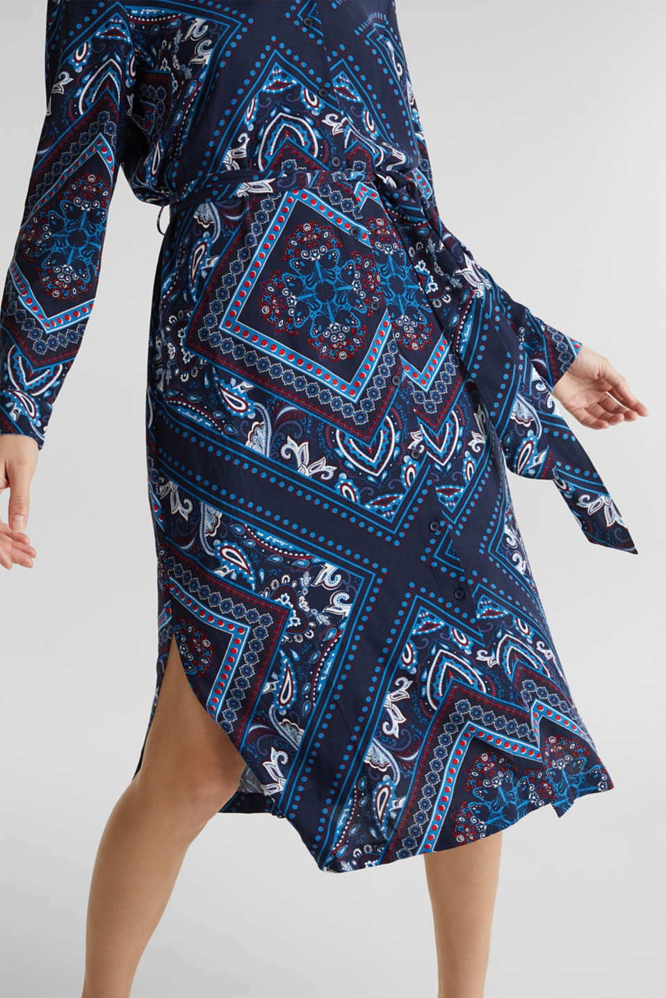 Shirt dress with bandana print, NAVY 4, detail image number 5