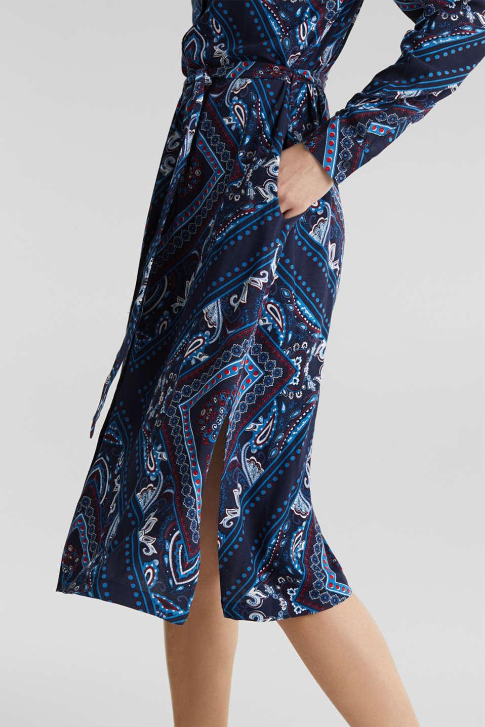 Shirt dress with bandana print, NAVY 4, detail image number 3