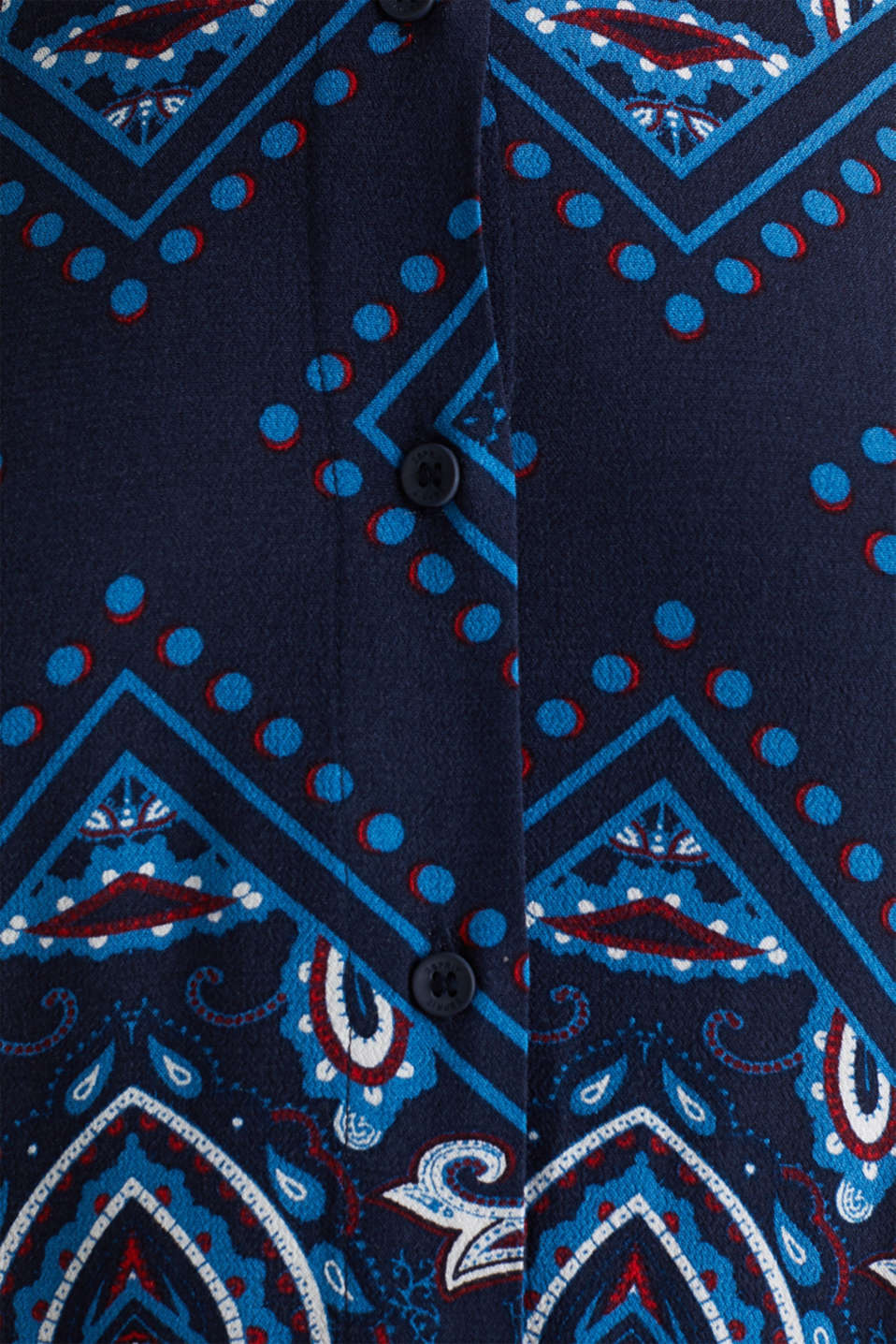 Shirt dress with bandana print, NAVY 4, detail image number 4