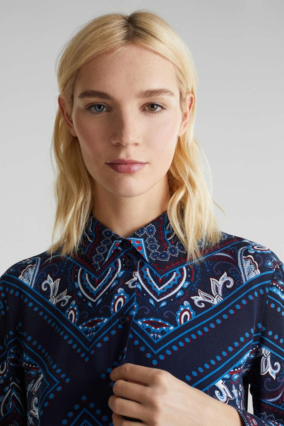 Shirt dress with bandana print, NAVY 4, detail image number 6