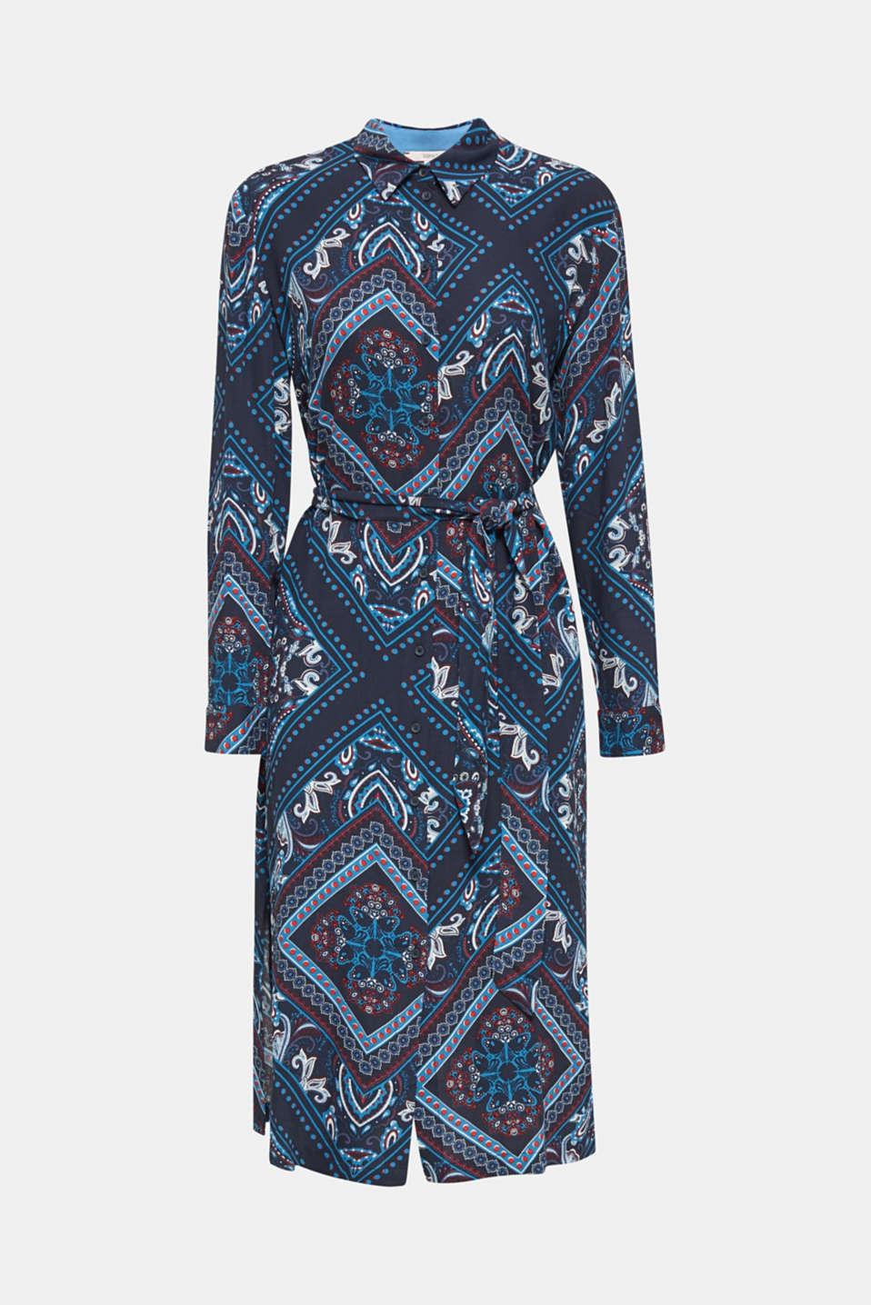 Shirt dress with bandana print, NAVY 4, detail image number 7