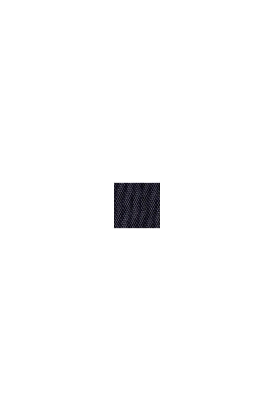 Piqué-Blusenkleid aus Lyocell, NAVY, swatch