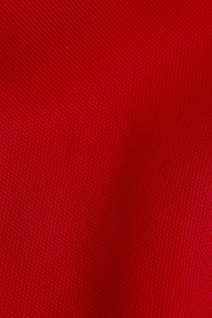 Piqué shirt dress made of lyocell, DARK RED, detail image number 4