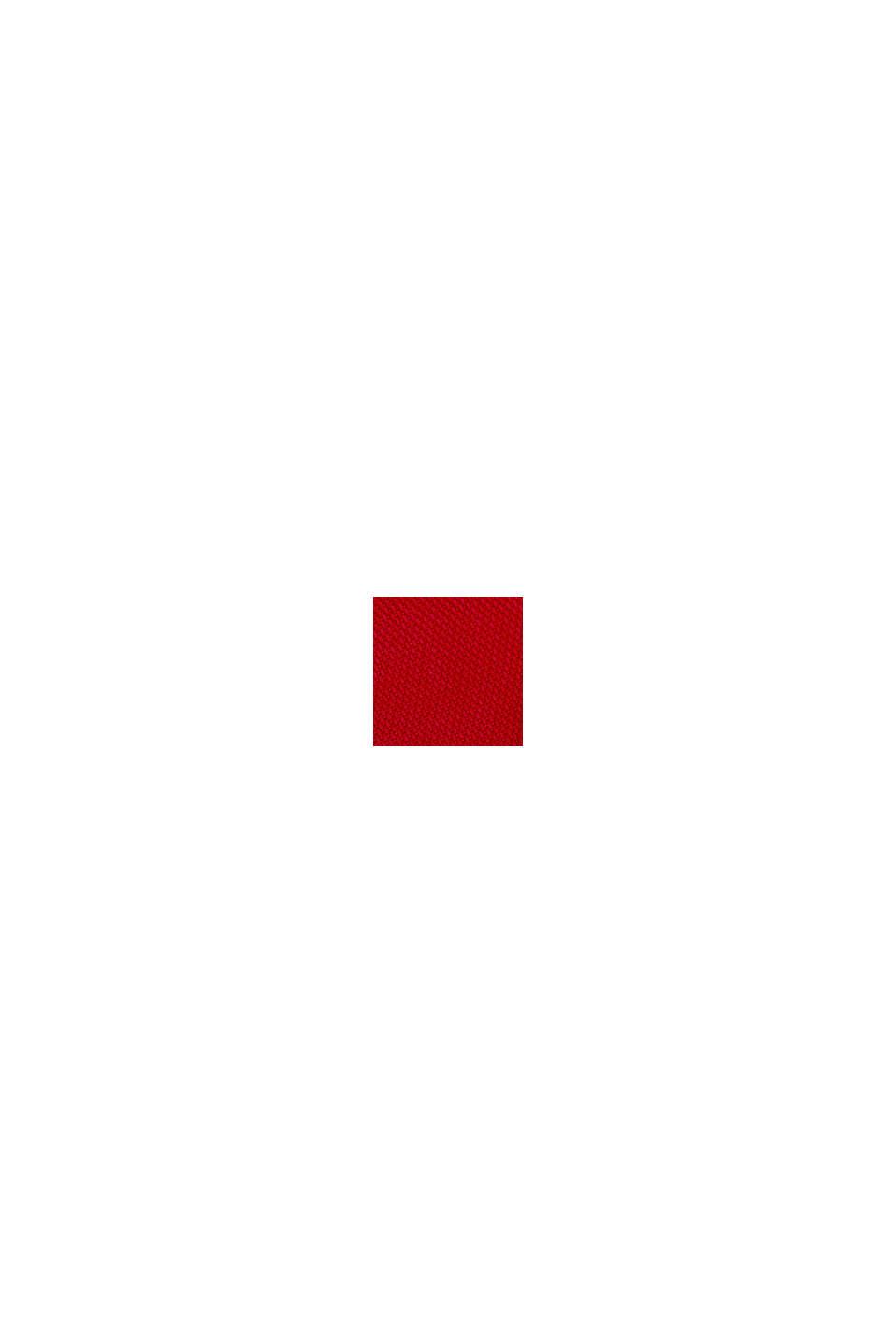 Piqué-Blusenkleid aus Lyocell, DARK RED, swatch