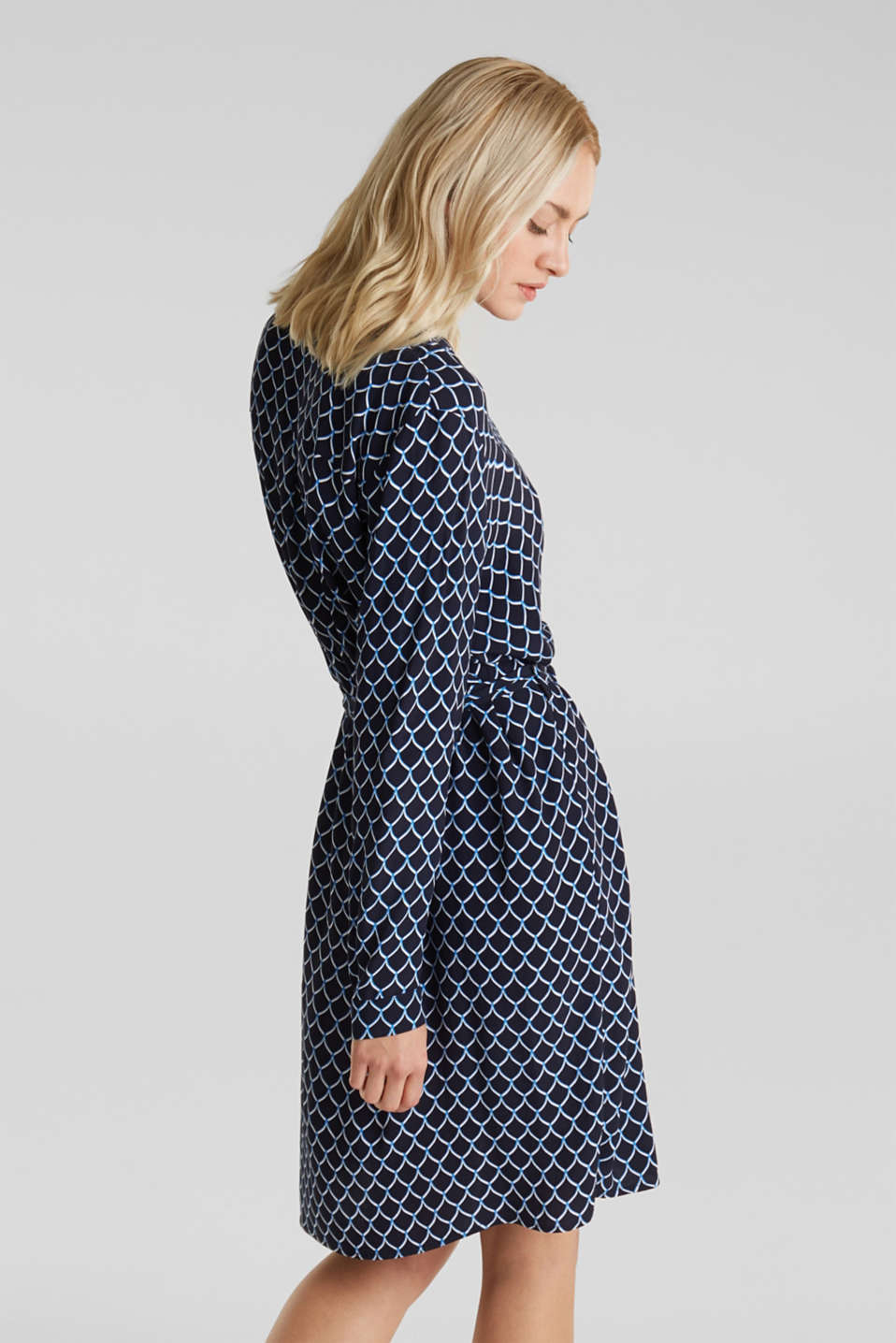 Shirt dress made of LENZING™ ECOVERO™, NAVY 4, detail image number 2