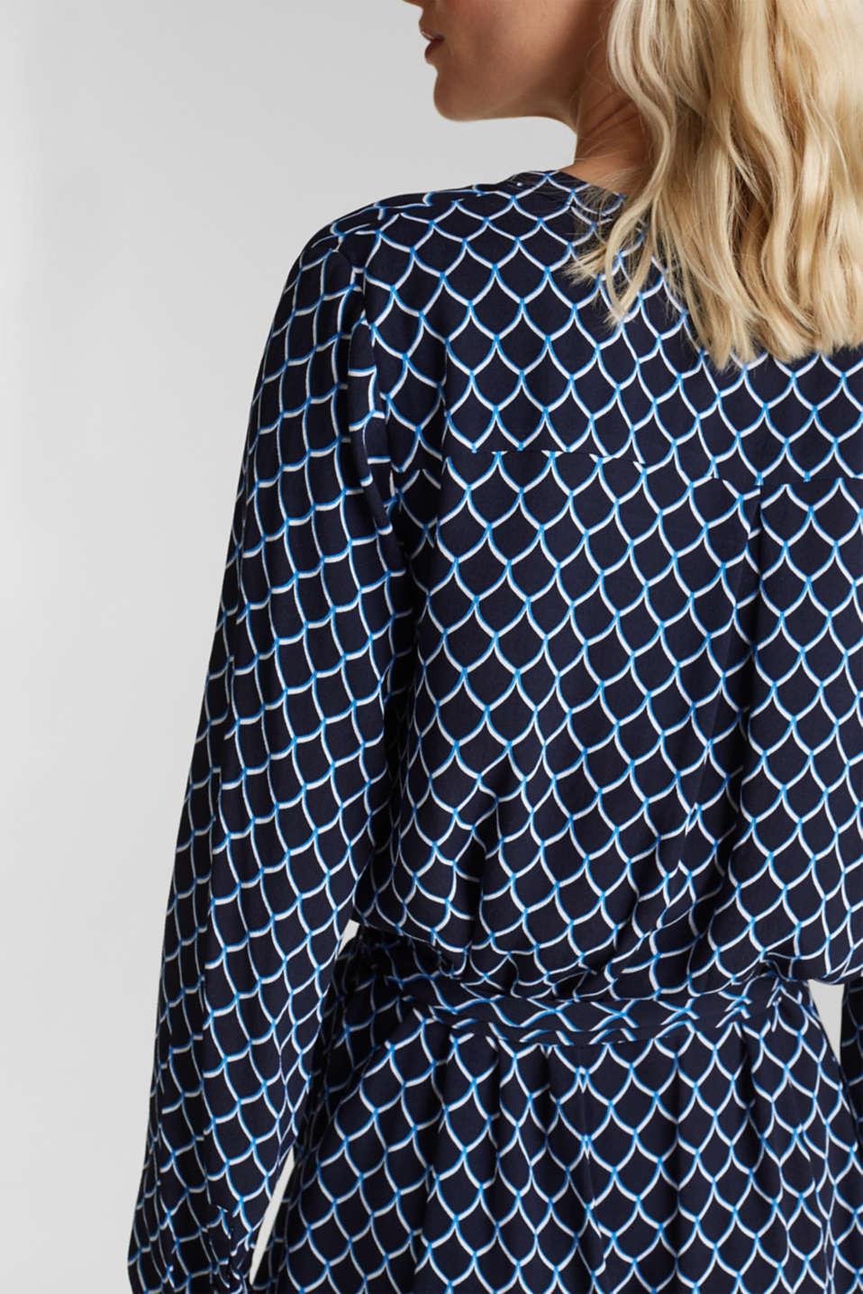 Shirt dress made of LENZING™ ECOVERO™, NAVY 4, detail image number 3