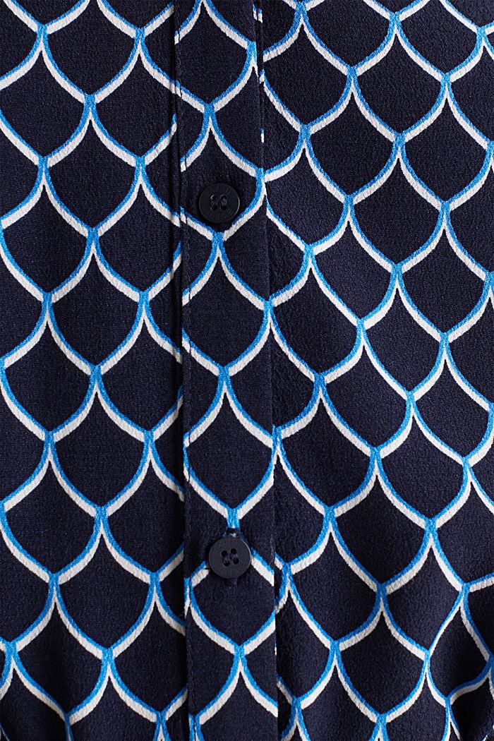 Shirt dress made of LENZING™ ECOVERO™, NAVY, detail image number 4
