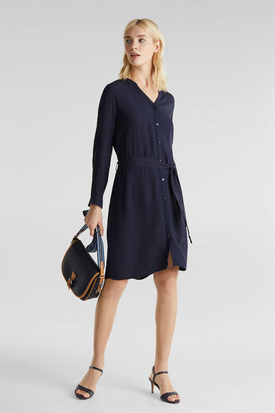 Esprit - LENZING™ ECOVERO™ shirt dress