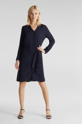LENZING™ ECOVERO™ shirt dress, NAVY 3, detail