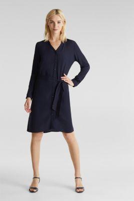 Shirt dress made of LENZING™ ECOVERO™, NAVY 3, detail