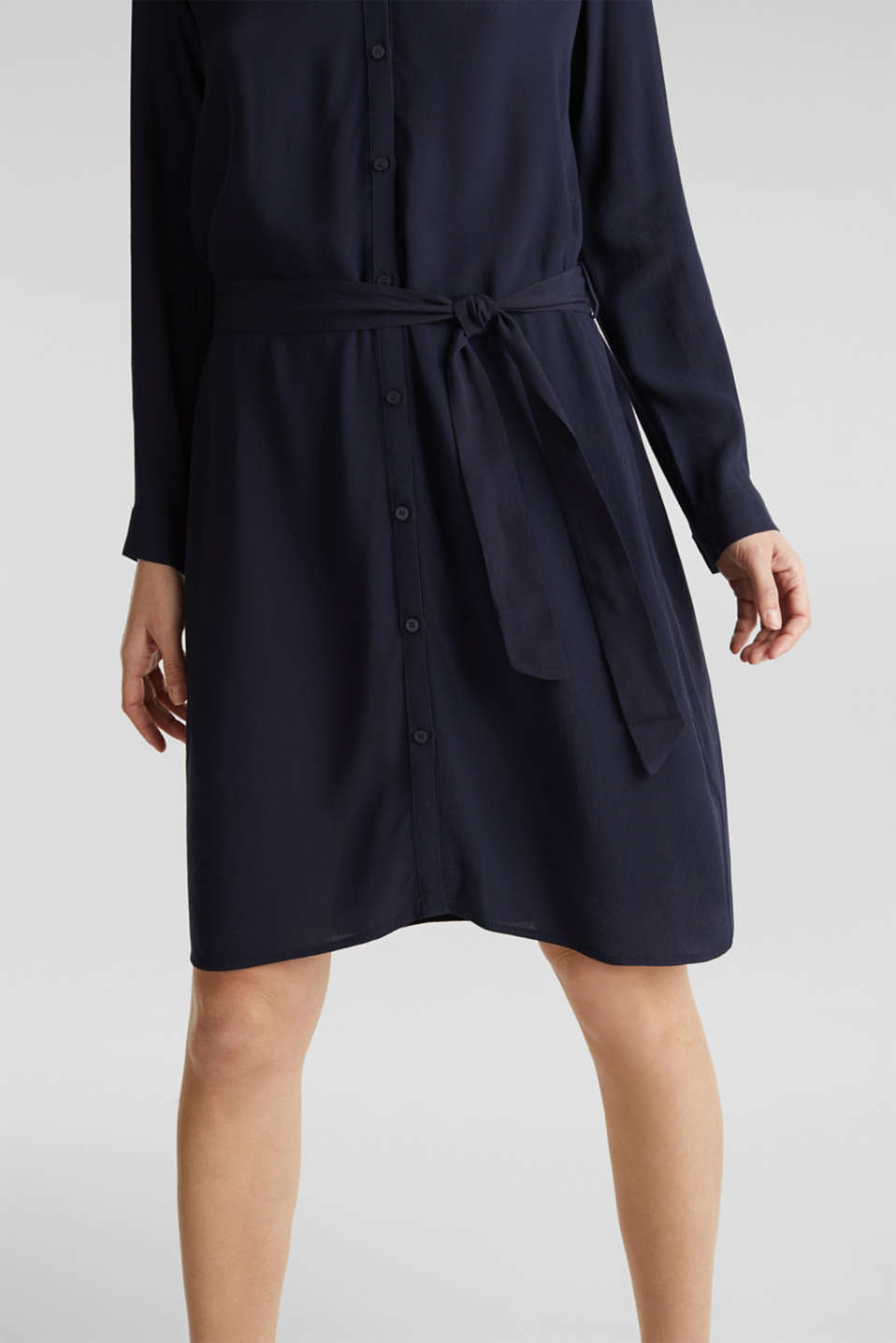 Shirt dress made of LENZING™ ECOVERO™, NAVY 3, detail image number 3
