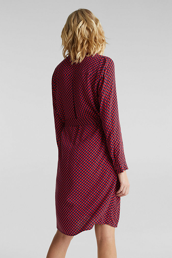 Woven dress with a Henley neckline, NAVY, detail image number 2