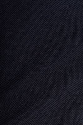 Stretch piqué dress with a flared skirt, NAVY, detail