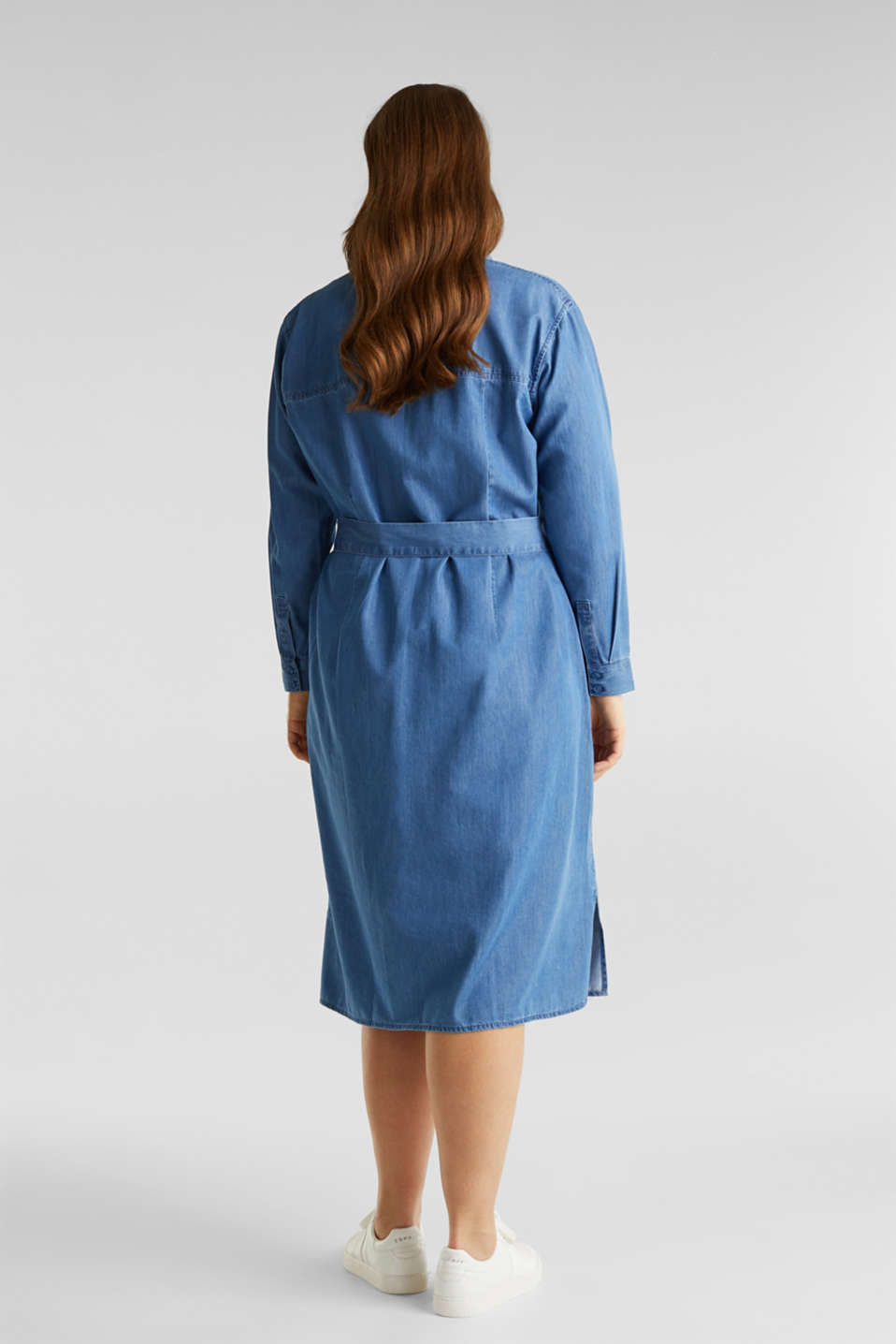 CURVY with TENCEL™: Denim-effect shirt dress, BLUE MEDIUM WASH, detail image number 2