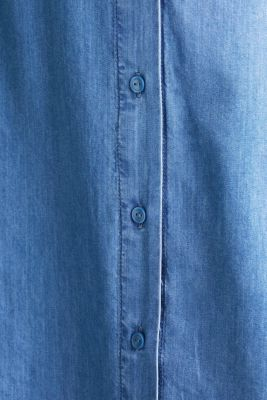 CURVY with TENCEL™: Denim-effect shirt dress, BLUE MEDIUM WASH, detail