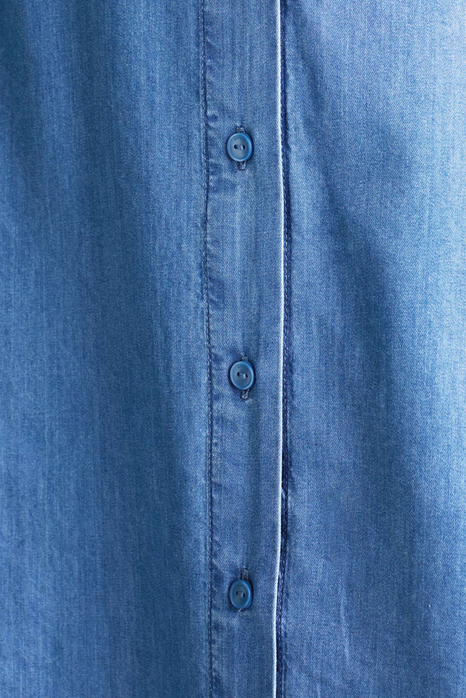 CURVY with TENCEL™: Denim-effect shirt dress, BLUE MEDIUM WASH, detail image number 4