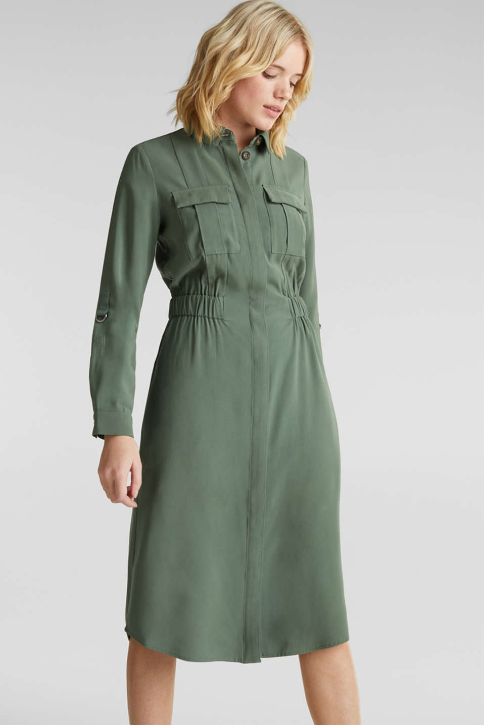 Esprit - Shirt dress in a utility style