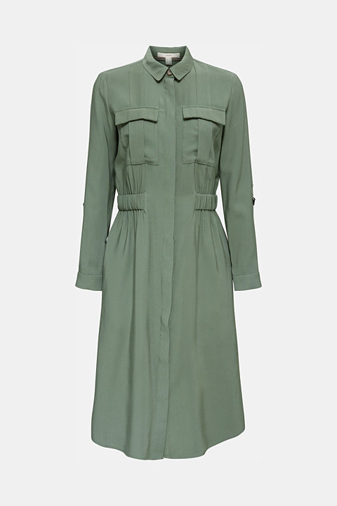 Shirt dress in a utility style