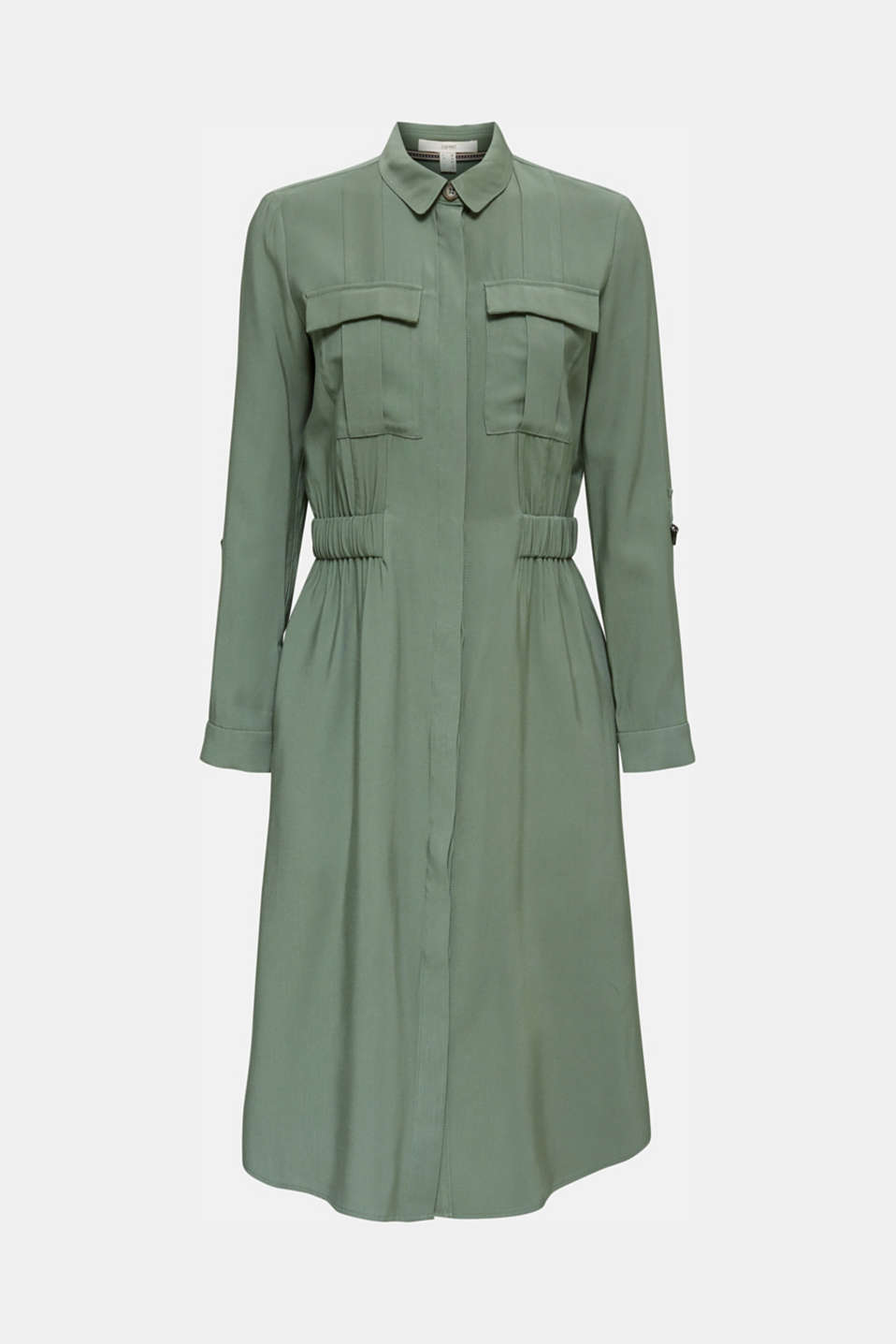 Shirt dress in a utility style, KHAKI GREEN, detail image number 5