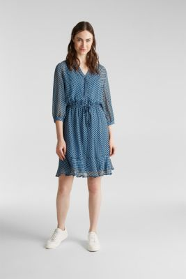 Chiffon dress with slip, LIGHT BLUE 4, detail