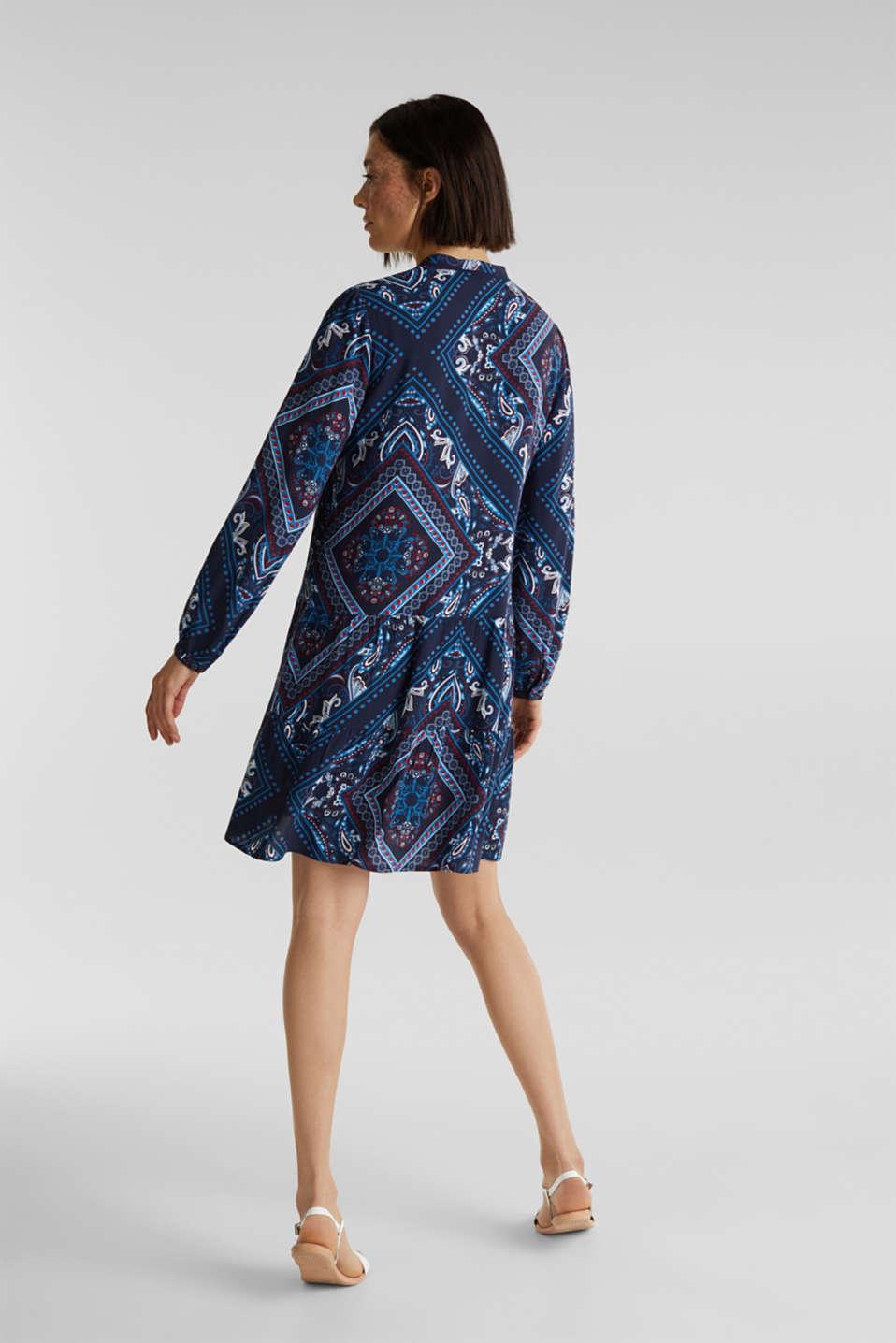 Printed smock dress, NAVY 5, detail image number 2