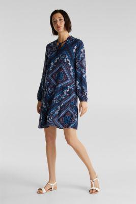 Printed smock dress, NAVY 5, detail