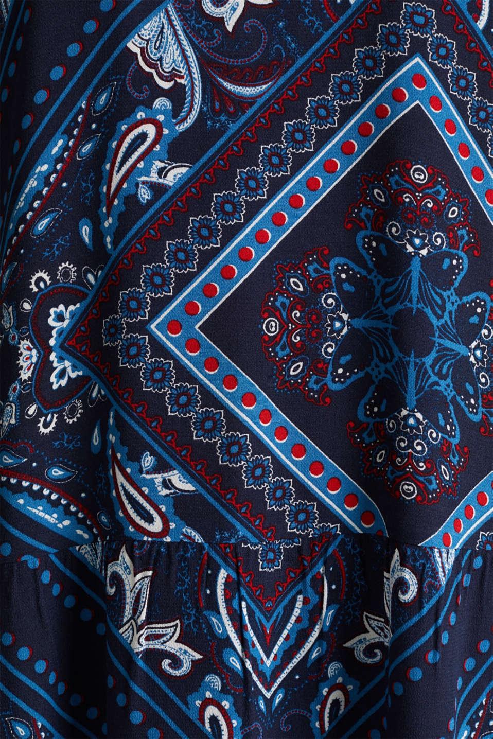 Printed smock dress, NAVY 5, detail image number 4