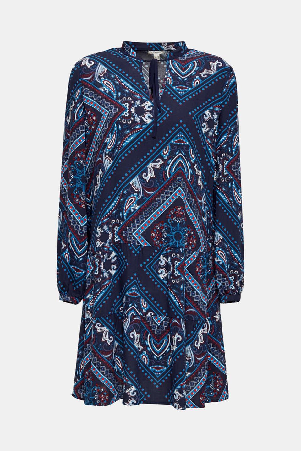 Printed smock dress, NAVY 5, detail image number 5