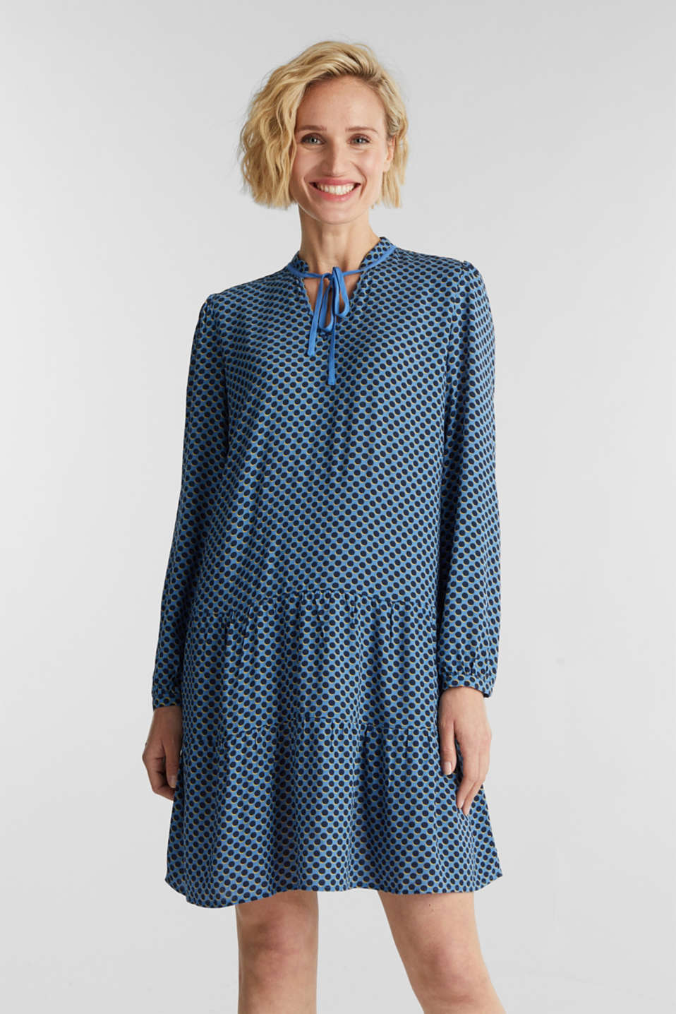 Printed smock dress, LIGHT BLUE 4, detail image number 0