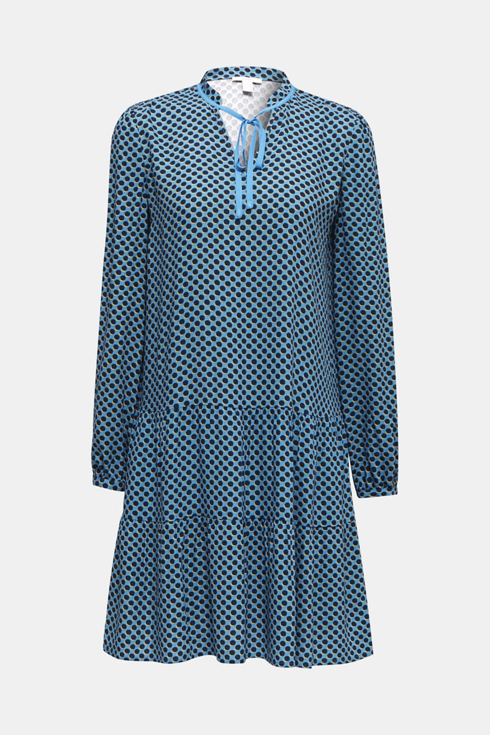 Printed smock dress, LIGHT BLUE 4, detail image number 6