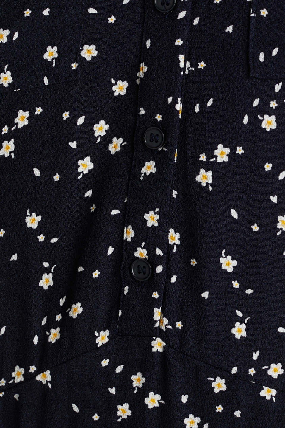 Shirt dress made of fine crêpe, NAVY, detail image number 2