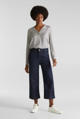 Henley blouse with an all-over print, OFF WHITE 4, detail
