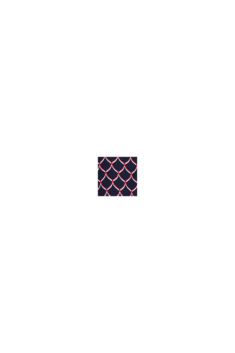 Henley-Bluse mit Print, NAVY, swatch