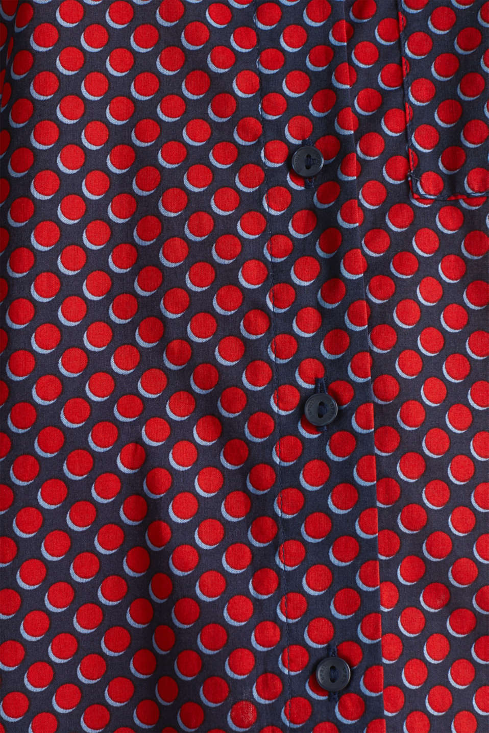 Blouse with a high-low hem, 100% cotton, NAVY 4, detail image number 3