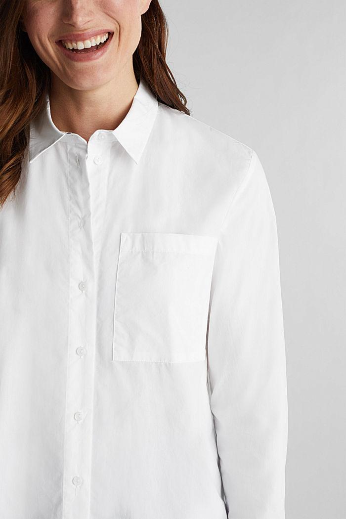 Casual overhemdblouse, 100% katoen, WHITE, detail image number 2