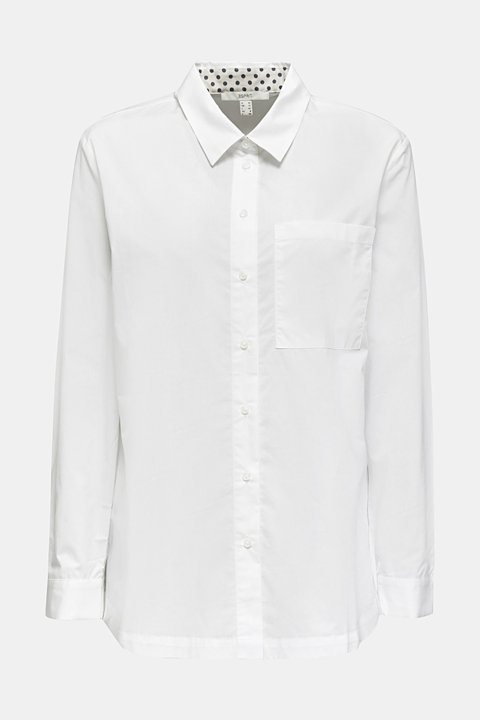 Shirt blouse in a casual cut, 100% cotton